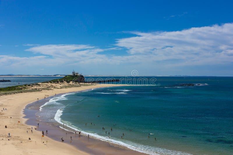 Nobbys-Strand in Newcastle Australien Newcastle ist Australiens sek stockbilder