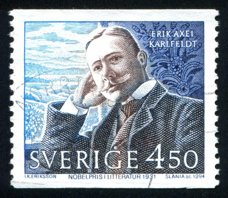 Nobel-Laureaat Erik Axel Karlfeldt stock afbeelding