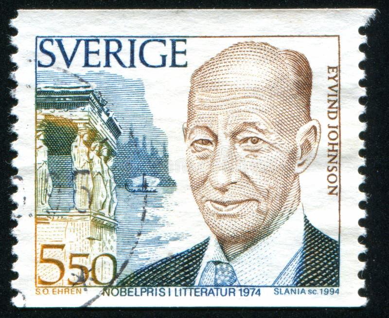 Nobel-Laureaat Eyvind Johnson stock afbeelding