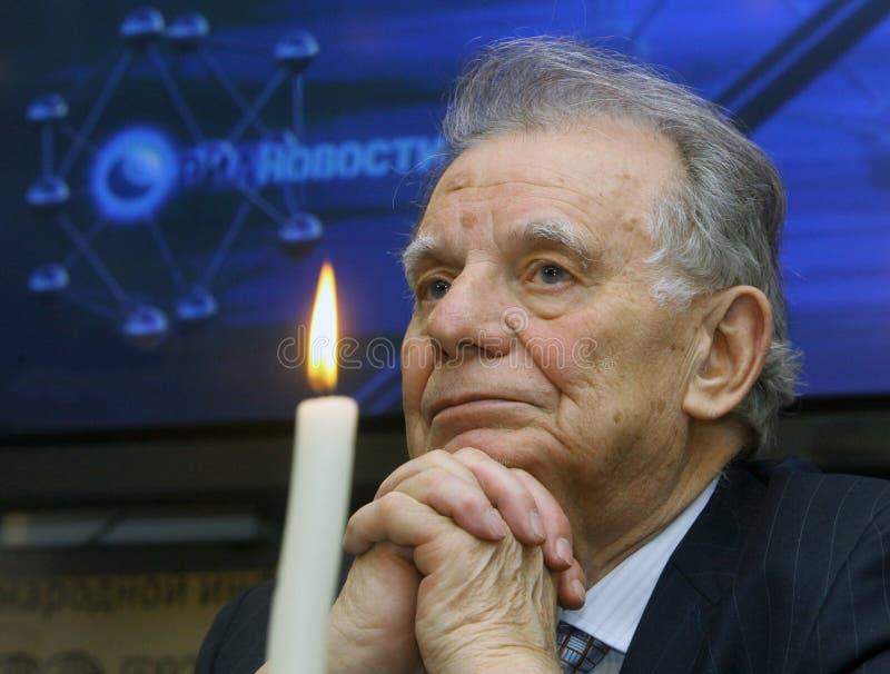 Nobel-laureaat in fysica, Russische wetenschapper Zhores Alferov stock afbeelding