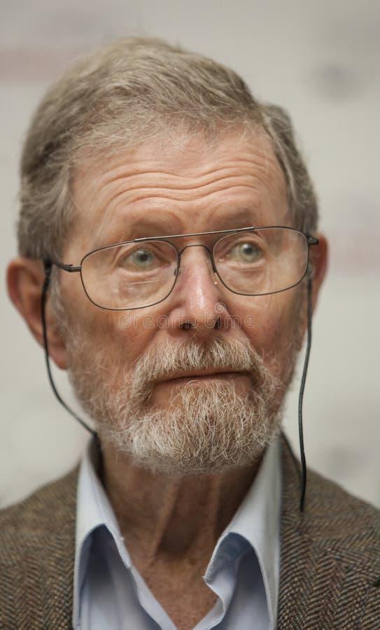 Nobel-laureaat Professor Dr. George E. Smith royalty-vrije stock foto