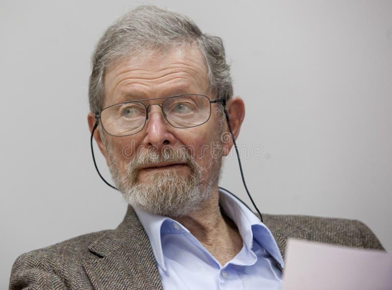 Nobel-laureaat Professor Dr. George E. Smith royalty-vrije stock afbeeldingen