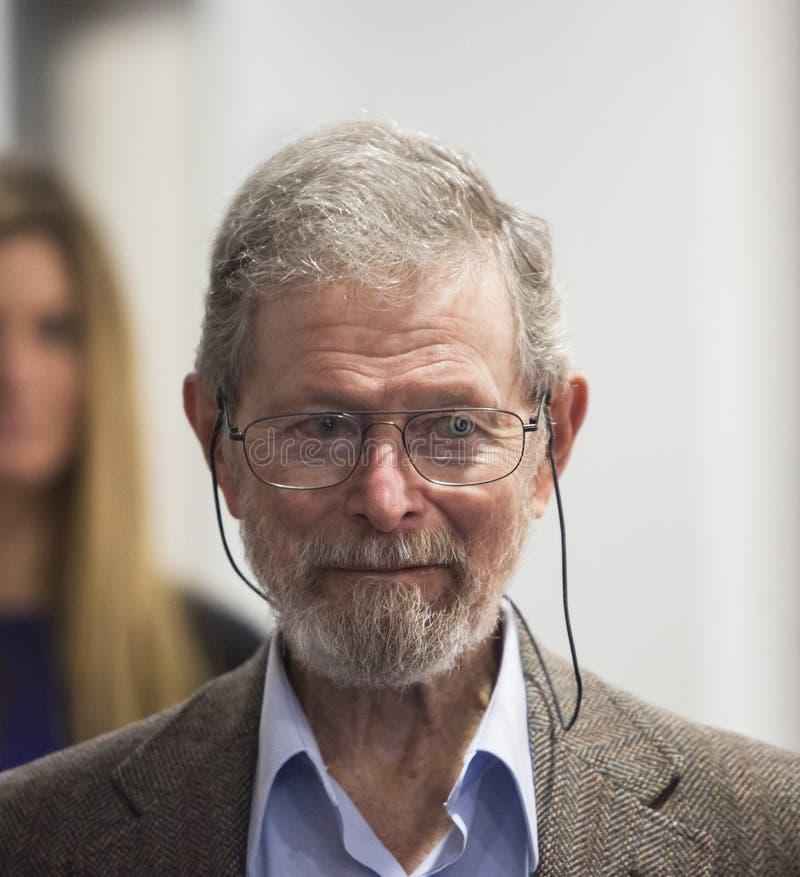 Nobel laureate professor Dr. George E. Smith royalty free stock photos