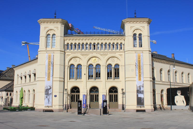 Nobel Peace Center in Oslo, Norway, Scandinavia. royalty free stock photos