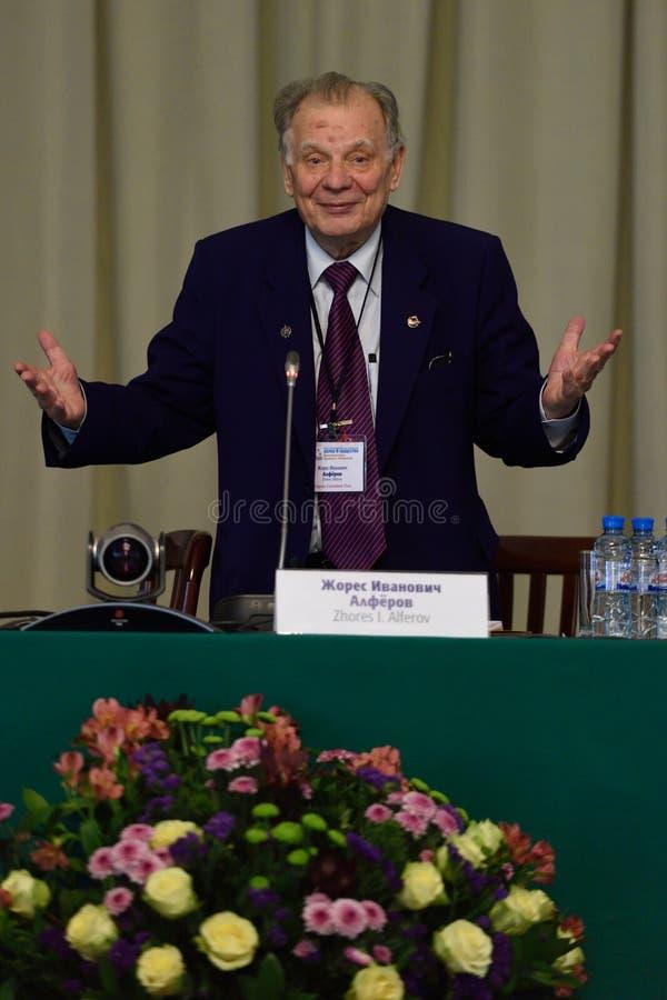 Nobel Prize Laureate in physics Zhores Alferov stock photography
