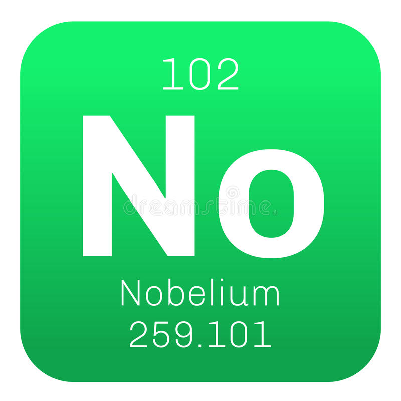 Nobelium chemisch element stock illustratie