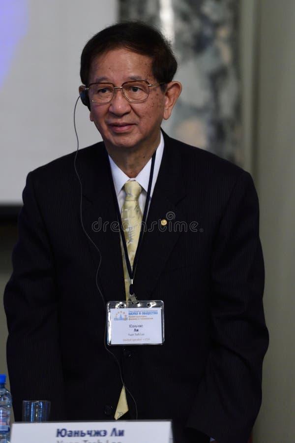 Nobelprispristagare i kemi Yuan Tseh Lee royaltyfri fotografi