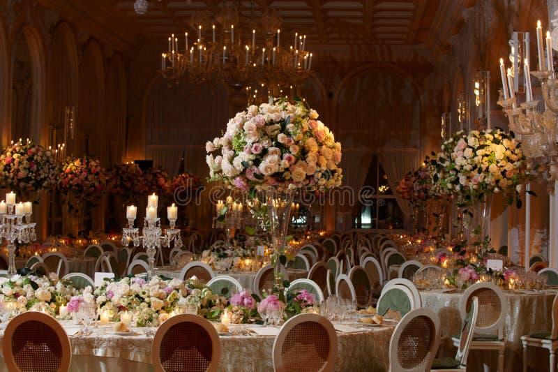 Noble Hochzeitseinstellung stockbilder