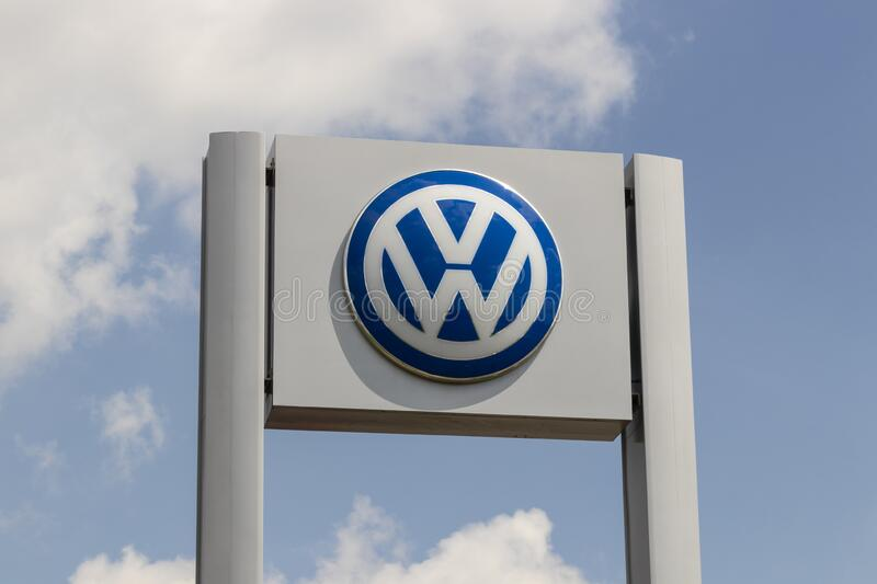 Volkswagen Cars and SUV Dealership. VW is among the world`s largest car manufacturers stock photography