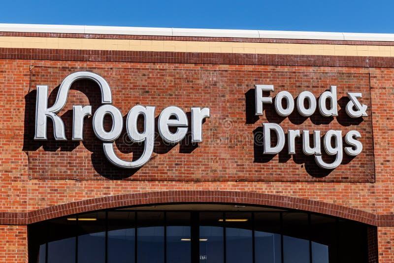 Noblesville - circa marzo de 2018: Supermercado de Kroger El Kroger Co está uno de los minoristas más grandes del ultramarinos de foto de archivo