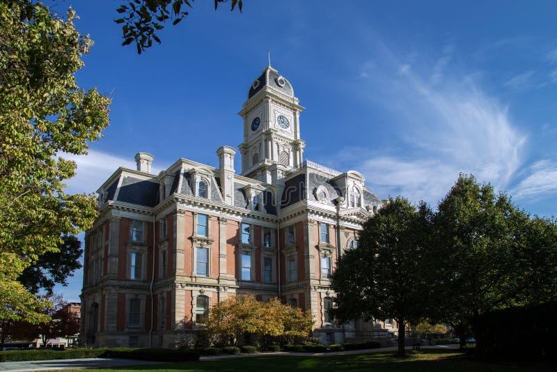 Noblesville Indiana Courthouse arkivbilder