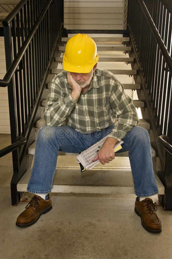 Nobody Is Hiring Worker Laid Off royalty free stock photo