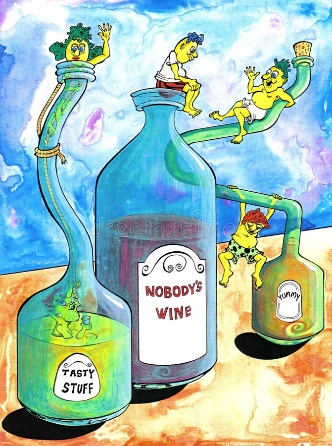 Download Nobody's Wine stock illustration. Image of glass, drunk - 87534
