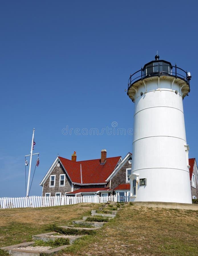 Nobska ljus, Cape Cod royaltyfria bilder