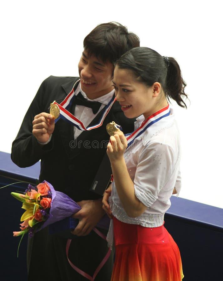 Nobunari Oda et Akiko Suzuki (JPN) photographie stock