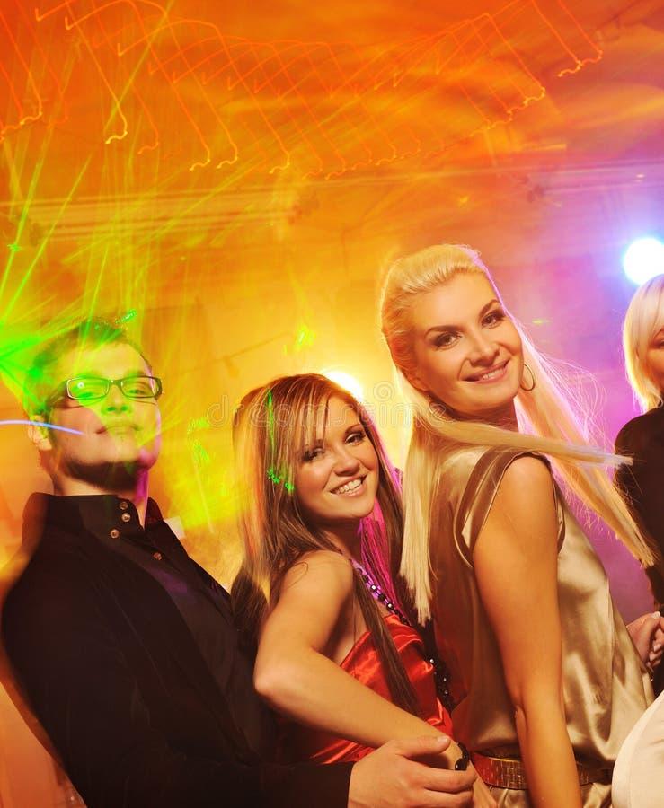 noc świetlicowi dancingowi ludzie obrazy stock