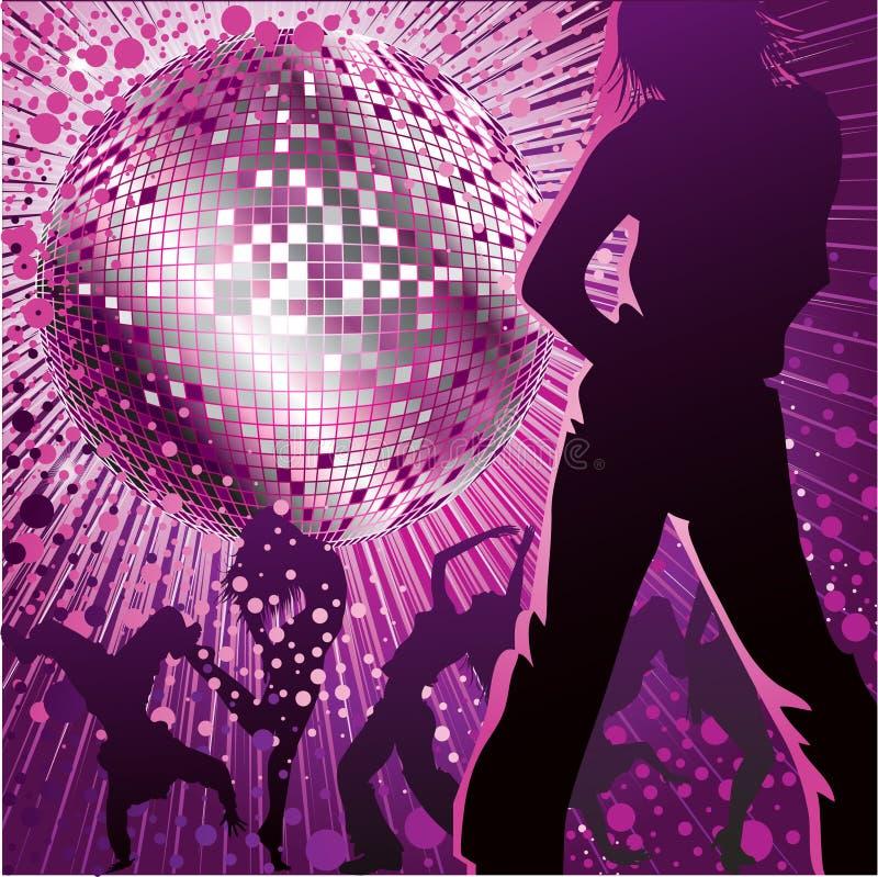 noc świetlicowi dancingowi ludzie royalty ilustracja