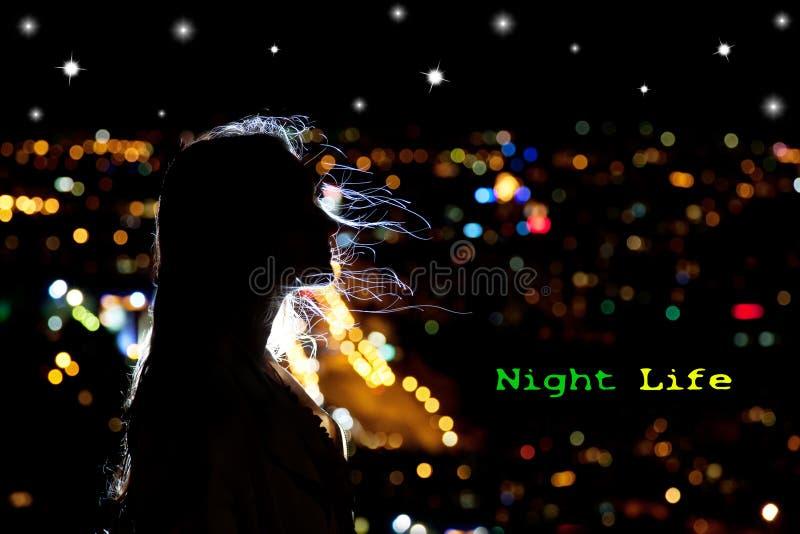 Noc życie fotografia stock