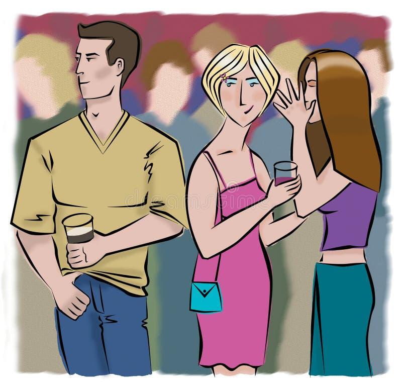 Download Noc ilustracji. Ilustracja złożonej z ludzie, alkohol, flirt - 136454