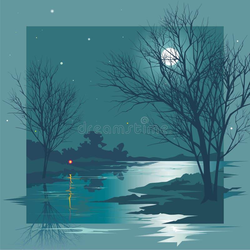 Noc ilustracja wektor