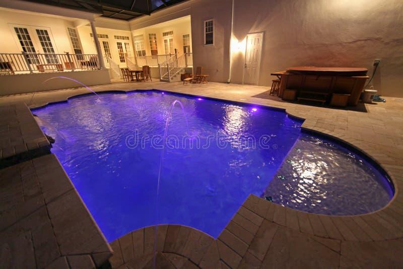 noc basen zdjęcie stock