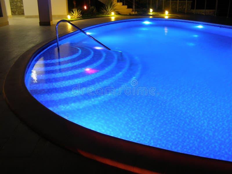 Noc basen w parku 1 zdjęcia royalty free