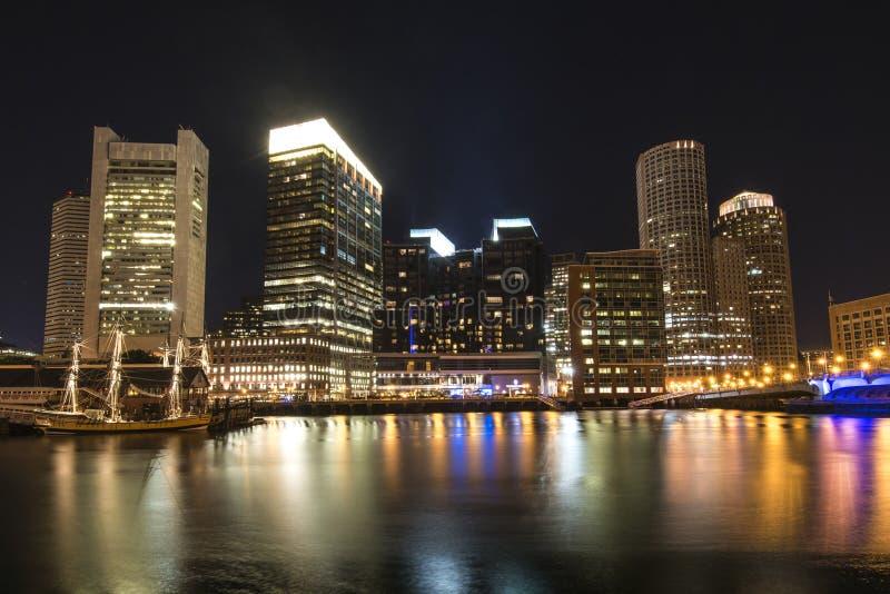 Noc Boston obrazy stock
