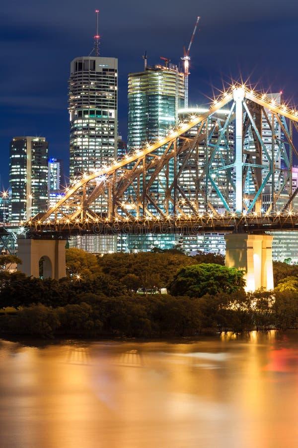noc bridżowa opowieść fotografia stock