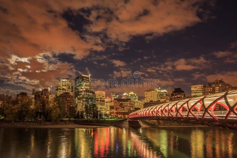 Noc Calgary obraz royalty free