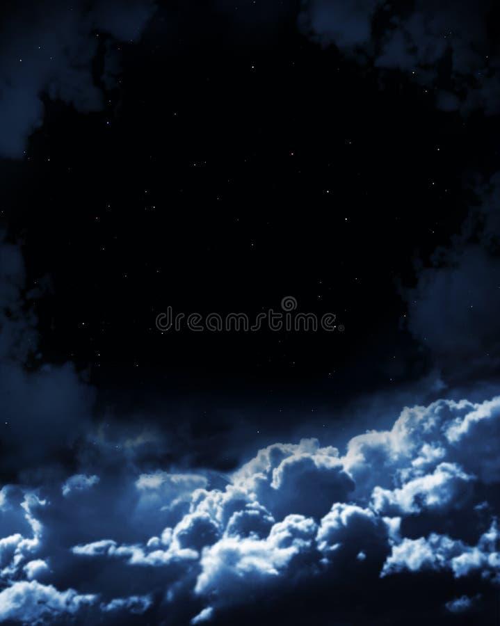 noc czarodziejska bajka ilustracji