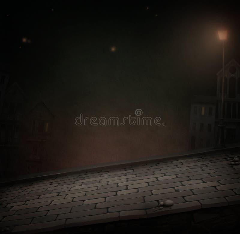 noc droga ilustracji