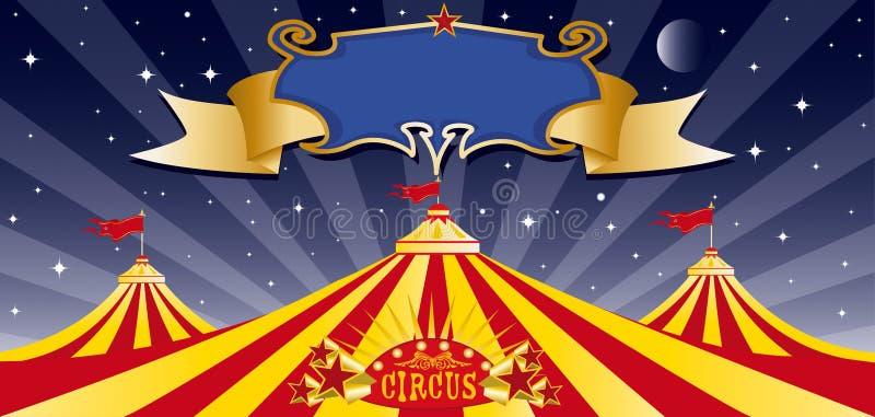 noc duży cyrkowy wierzchołek royalty ilustracja