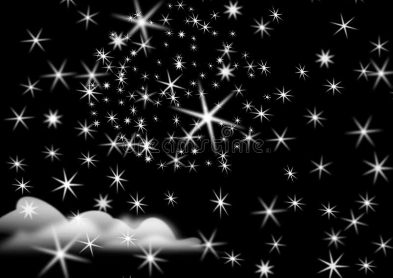 noc gwiaździsta ilustracja wektor