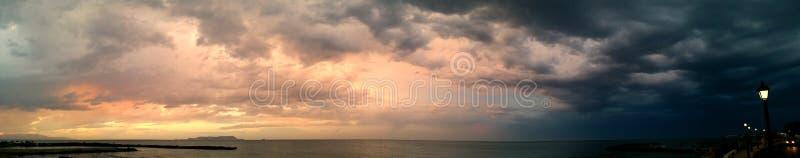 Noc i dzień Panoramiczni fotografia stock