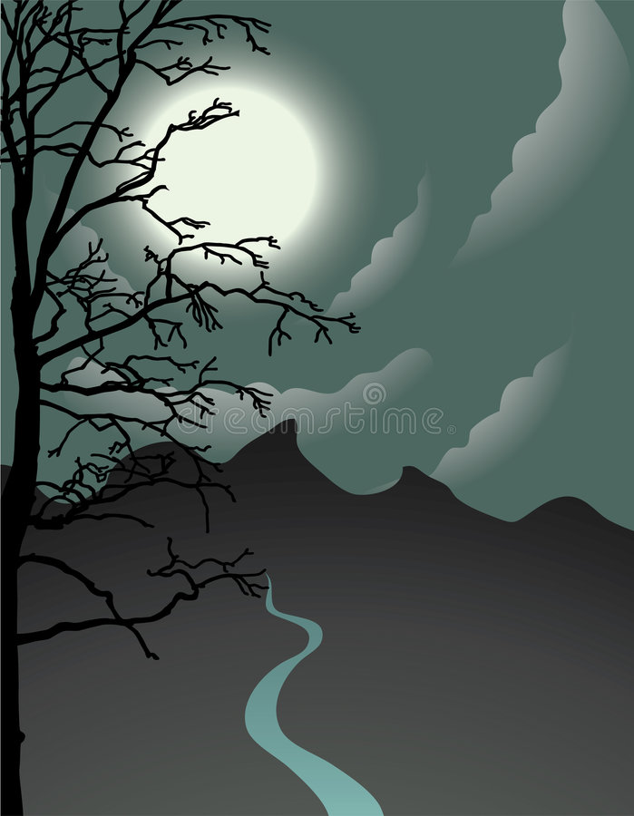 noc jest halloween. royalty ilustracja