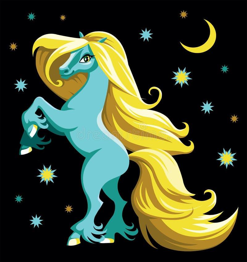 Noc koń royalty ilustracja