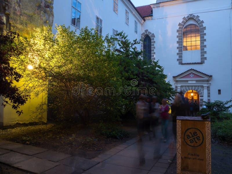 Noc kościół w kościół Nasz dama pod łańcuchem fotografia royalty free
