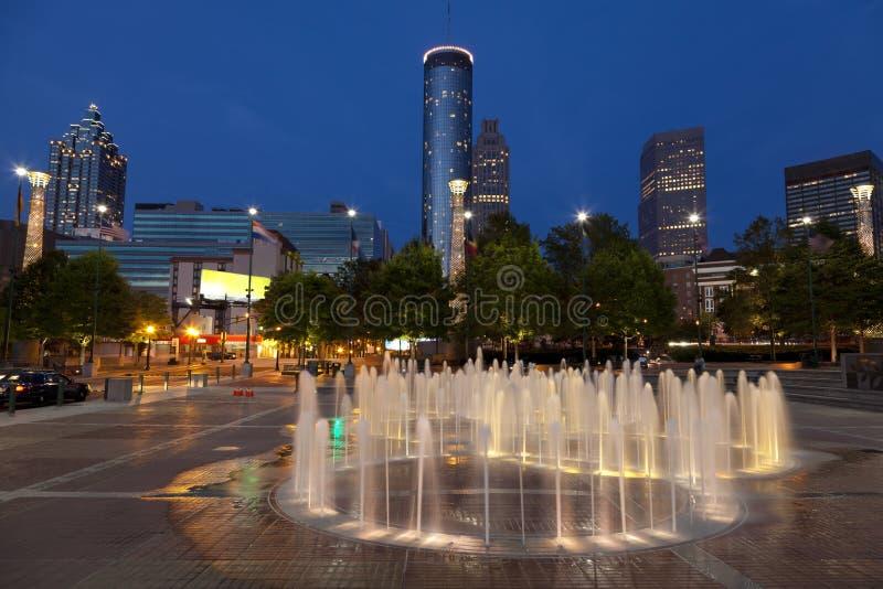 Noc miasto zdjęcie stock