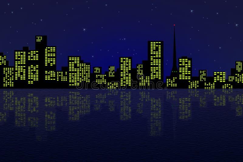 Noc miasto obrazy royalty free