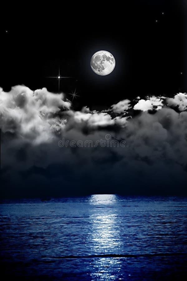 Noc morza scena fotografia royalty free