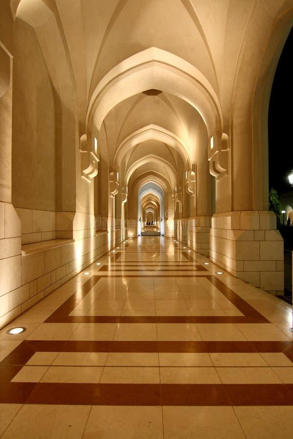 noc pałac przejście obrazy stock