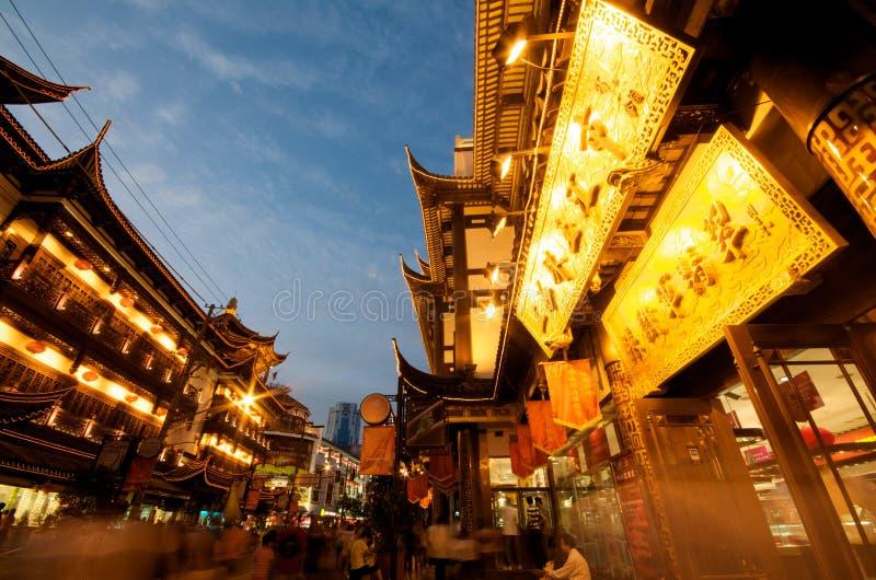 noc pagoda Shanghai obrazy royalty free