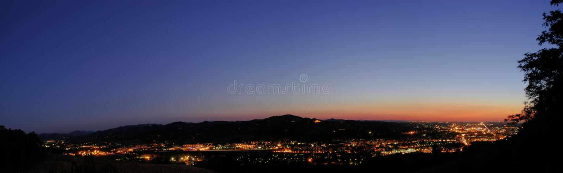noc panoramiczny widok obrazy royalty free
