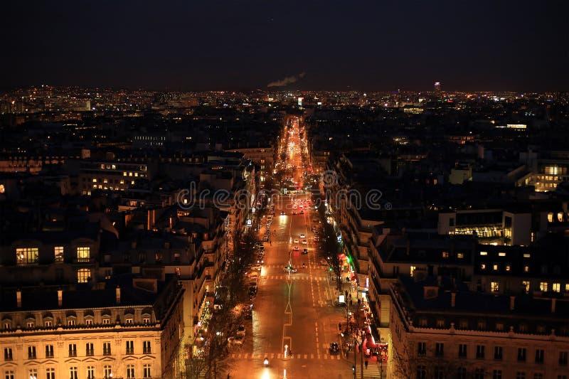 Noc Paryż zdjęcia stock