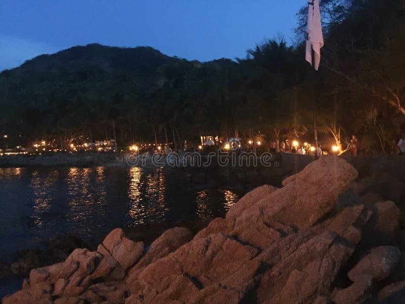 noc plażowa zdjęcie royalty free