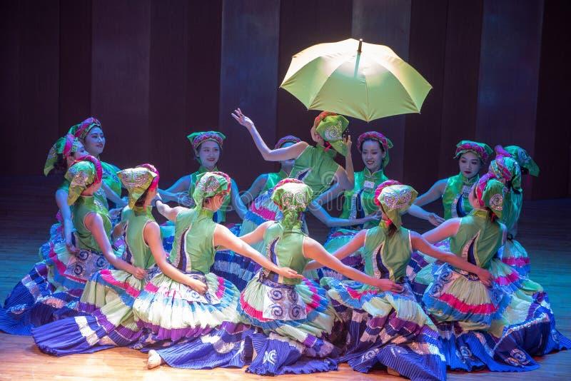 Noc przed tana dramata Axi Yi ludowym tanem zdjęcie royalty free