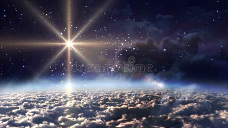 noc przestrzeni gwiazdy kolor żółty obraz stock