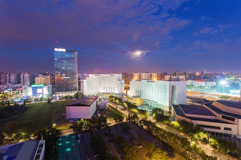 Noc przy Pekin fotografia royalty free