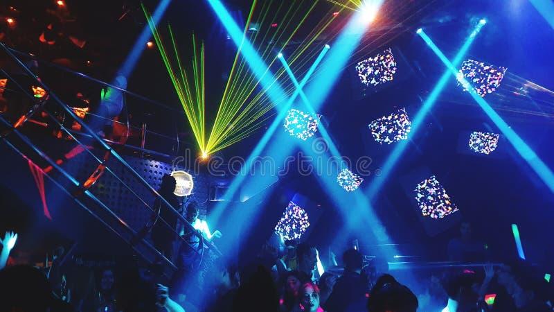 Noc przy za Luksusowym klubie nocnym Saiigon Wietnam obrazy royalty free