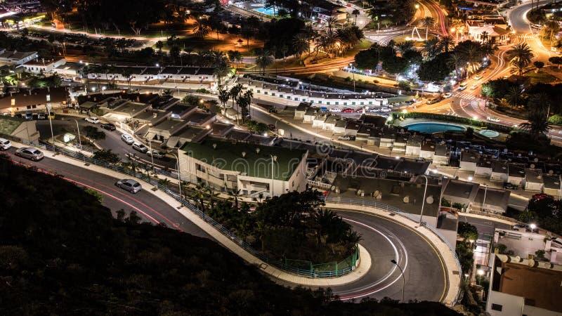 Noc Puerto Rico, wyspa kanaryjska zdjęcia stock